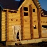 Строительство из бруса, бревна, шлифовка, конопатка сруба, плотники, Новосибирск