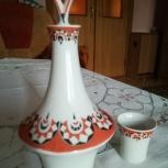 Набор для коньяка (графин+рюмка) раритет, Новосибирск