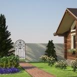 Ландшафтный дизайн, благоустройство территории, Новосибирск