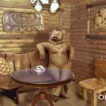 Скамейка с медведем для комнаты отдыха, Новосибирск