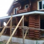 Строительство из бревна, бруса: дома, террасы, беседки, бани, Новосибирск