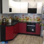 Кухня красно-черная, Новосибирск