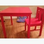Детский столик+стул красные kritter+игрушка, Новосибирск