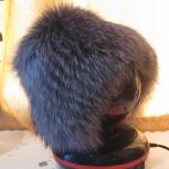 Продам шапку из чернобурой лисы новую, Новосибирск