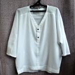 Фирменная хлопковая блуза c шифоновыми вставками, Новосибирск