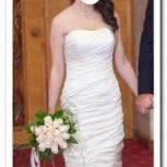 Свадебное платье+ колье и колготки в подарок, Новосибирск