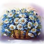 """Алмазная мозаика """"Полевые цветы"""" 40х30 см, Новосибирск"""