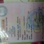 Найден документ  Свидетельство регистрации, Новосибирск