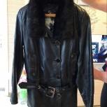 Продам кожаную куртку с воротником из норки, Новосибирск