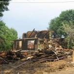 Демонтаж дач,деревянных построек.Вывоз мусора после пожара, Новосибирск