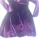Платье новое велюровое 44 размер трикотажное винного цвета, Новосибирск