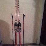 Срочно продам новые  лыжи с ботинками, палками, Новосибирск