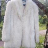 Продам белый женский полушубок,новый., Новосибирск