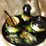 Набор Japan.Тарелки ГДР, Стопки, ,Блюдо хрусталь.Две чайные пары., Новосибирск