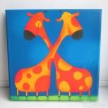 Картина 2 жирафа, Новосибирск