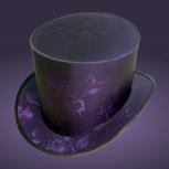 Фиолетовая шляпа цилиндр с растительным орнаментом. Готическая шляпа, Новосибирск