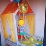 Детская кровать-домик и стеллаж, Новосибирск