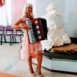 Аккордеонистка на праздник, Новосибирск