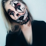 Грим/макияж на хэллуин, Новосибирск