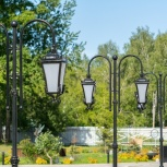 Парковые опоры освещения, фонари, Новосибирск