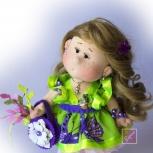 Кукла  интерьерная  текстильная  ручной  работы, Новосибирск