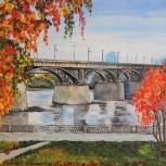 """Продам картину """"Мост Новосибирска"""", Новосибирск"""