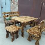 Столы, лавки из натурального дерева для дачи,бани, Новосибирск