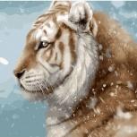 "Картина по номерам ""Зимний Тигр"" 30х40 см, Новосибирск"