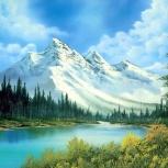 """Картина из страз """"Вид на горы"""" 50х40 см, Новосибирск"""