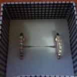 Золотые серьги 585 вес 2.19 вставка циркон, Новосибирск