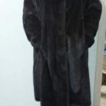 Коричневая норковая шуба ниже колен, с капюшоном, Новосибирск