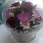 Продам вечный букет из живых цветов, Новосибирск