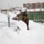 Сброс снега с крыш и козырьков, Новосибирск