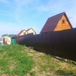 Забор из профнастила, евроштакетника, металла, Новосибирск