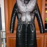 Пальто зимнее из экокожи новое, Новосибирск