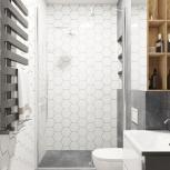 Дизайн-проект ванной или санузла, Новосибирск