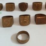 Кольцо-печатка медное, 10 разных., Новосибирск