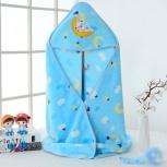 Детское полотенце с капюшоном (синего цвета), Новосибирск