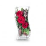 Цветы в стекле, Новосибирск