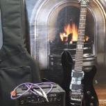 Гитара Cort+комбик Laney+чехол+стойка+струны, Новосибирск