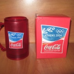 Кружка 2004 года историческая олимпийская Афины коллекционная, Новосибирск