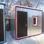 Вагончик бытовка красная(2х3м) пост охраны, киоск, Новосибирск