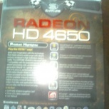 видеокарта PCI-E SAPPHIRE HD4650 1G DDR2 VGA/DVI/TV-out б/у, Новосибирск
