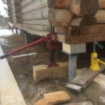 Подъём домов бань перемещение замена венцов, Новосибирск