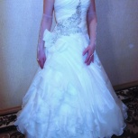Превосходное, свадебное платье (цвет айвори). Размер: 46. Счастливое, Новосибирск