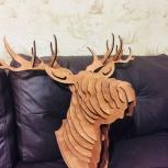 Голова оленя из фанеры, Новосибирск