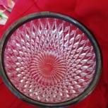 ваза-конфетница с мельх.ободком, Новосибирск