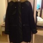 Куртка-пальто черничного цвета, Новосибирск