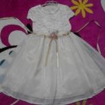 Белое нарядное платье на 6-7 лет, Новосибирск