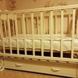 Детская кроватка -маятник с матрасом, Новосибирск